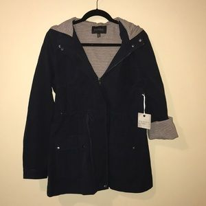 BLU PEPPER navy blue utility jacket